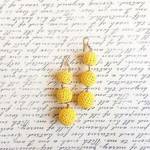 Jewelry - Handmade yellow drop earrings